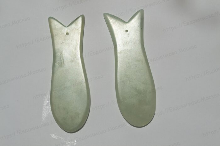 Товары Скребок Гуа-Ша Нефрит (рыбка)